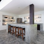 Concrete Kitchen Island Design Villa