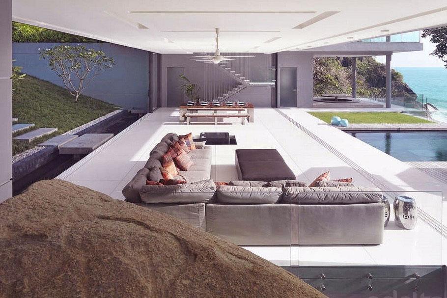 Contemporary Open Living Spaces Villa Amanzi