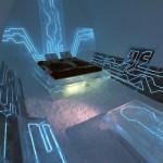 Futuristic Bedroom with Tron Blue Theme Ideas