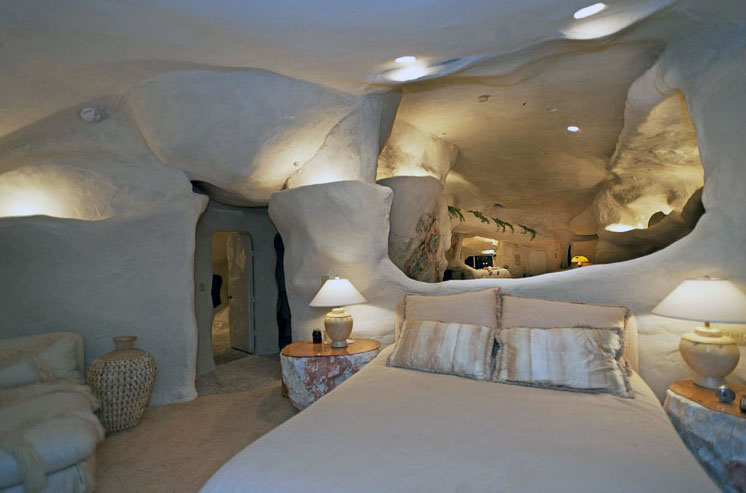 Great Lighting Design Cave House Bedroom Interior