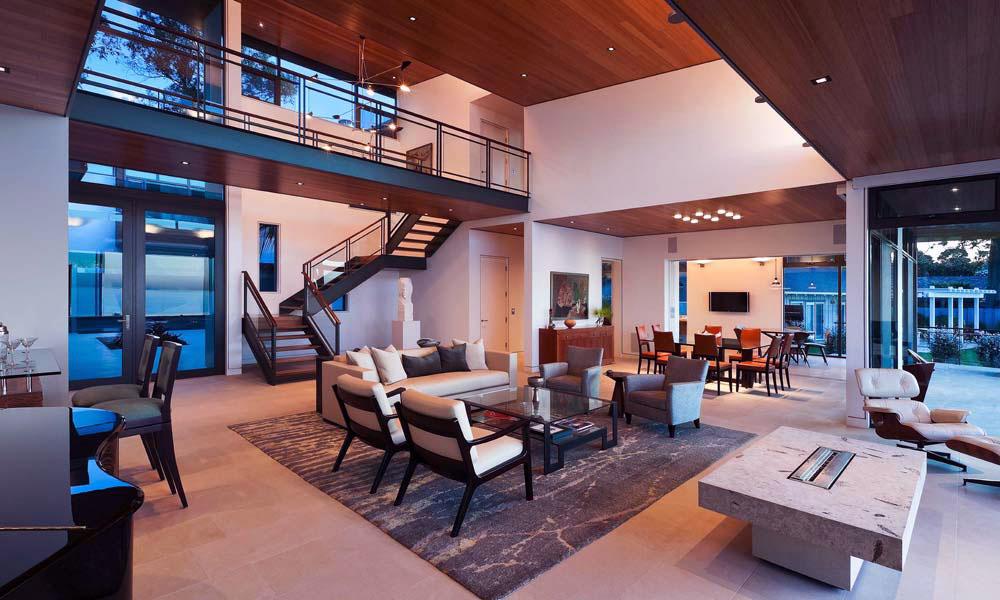 Great Lighting Open Plan Living Room Residence