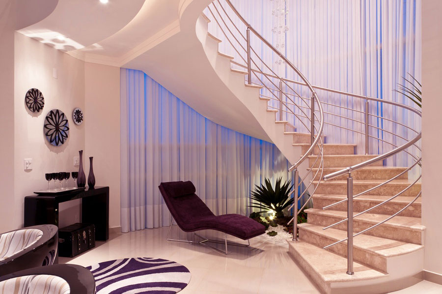 Luxury Cream Marble Staircase Ideas