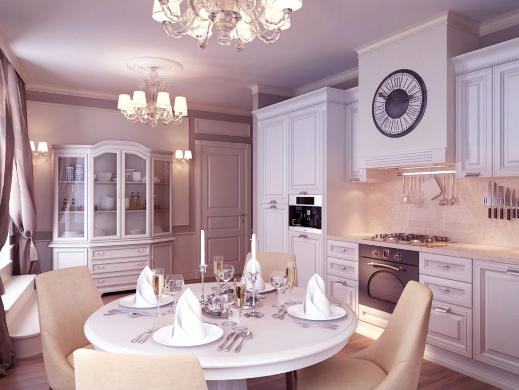 Luxury Dining Room with Chandelier and Table Manner