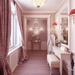 Luxury Feminine Dressing Room with Wooden Floor