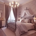 Luxury Neutral Bedroom Design with Chandelier