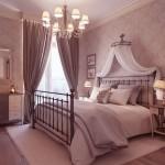 Luxury Neutral Bedroom Design with Chandelier