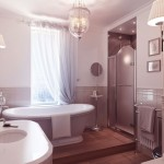 Luxury Traditional Bathroom with Wooden Floor