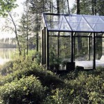 Marvelous Garden Shed Bedroom with Glass Architecture Design