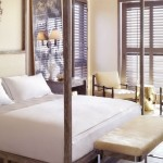 Modern Rustic Bedroom with Canopy Bed Ideas