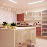 Miniamalist Cream Kitchen with White Kitchen Island Ideas