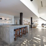 Minimalist Gray Concrete Kitchen Countertop Design