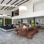 Minimalsit Open Plan Living Space Design Villa