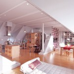 Modern Attic Open Living Space Design