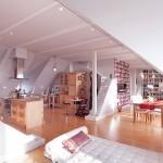 Modern Attic Open Living Space Design