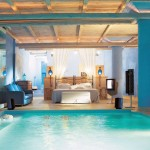 Modern Cool Bedroom with a Pool Inside Design Ideas