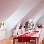 Modern Dining Room with Red Table Runner