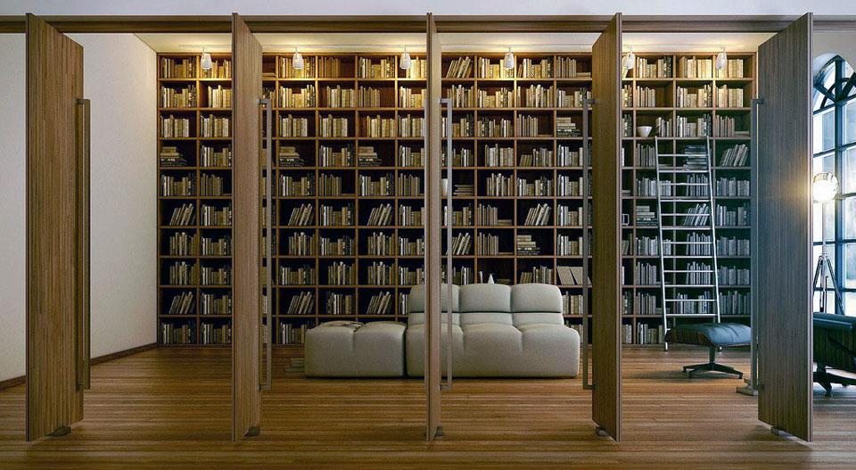 Modern Large Home Library Design Interior Design Ideas