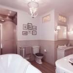 Neutral Bathroom with Wooden Floor Ideas