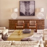 Neutral Living Room Villa with Bonsai Lamp