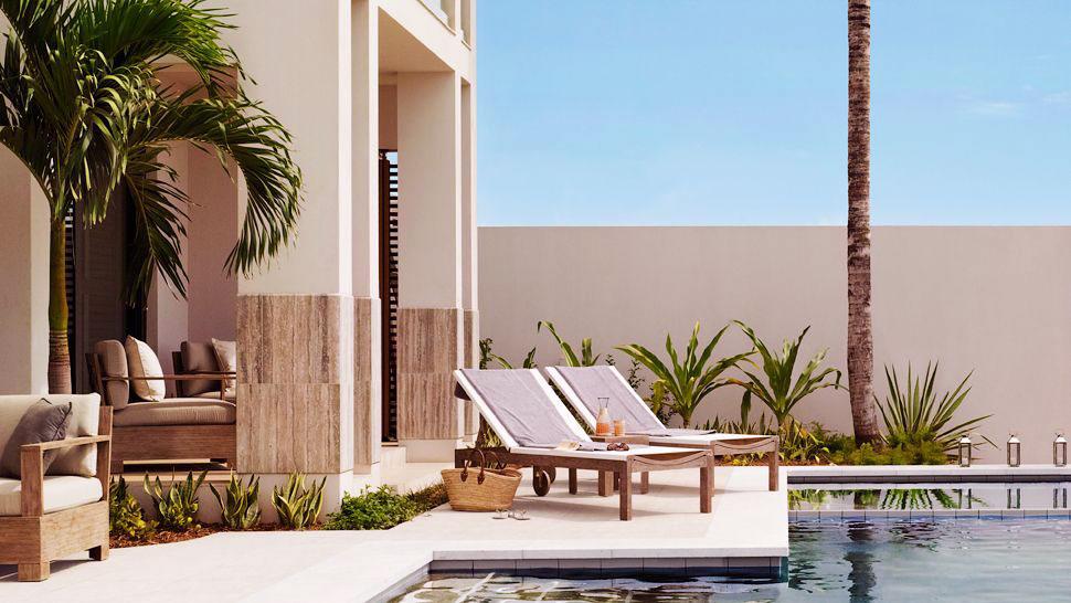 Tropical Sun Patio Infinity Pool Design Ideas