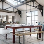 Urban Style Kitchen Dining Area in Loft