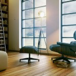 Warm Reading Room Design with Wooden Floor Ideas