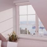 White Sloped Ceiling Window with Lake Malaren Views