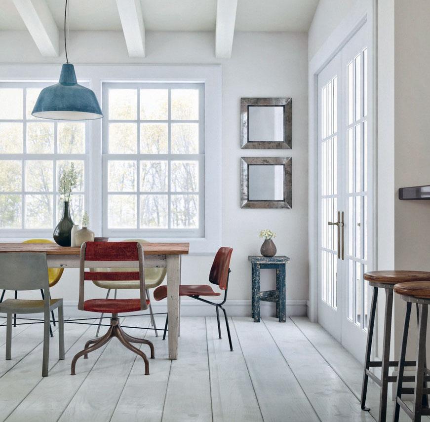 white vintage dining room style interior design ideas