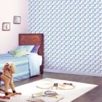 Awesome Blue White Wall Patterns Boys Room