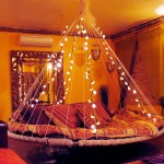 Awesome Floating Bed Fairy Lights Design