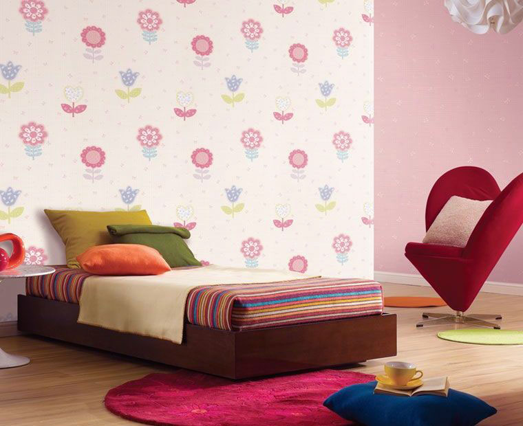 Beautiful colorful flower wall decal for girls room - Colorful room for kids ...