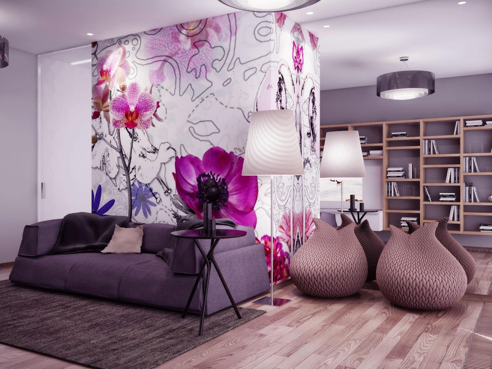 Цветы дизайн интерьера