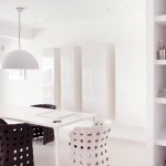 Black White Dining Room White Pendant Chandelier