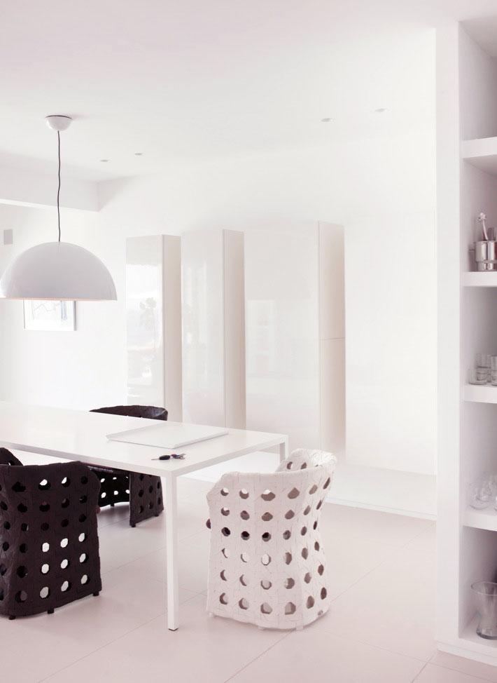 Black White Dining Room White Pendant Chandelier