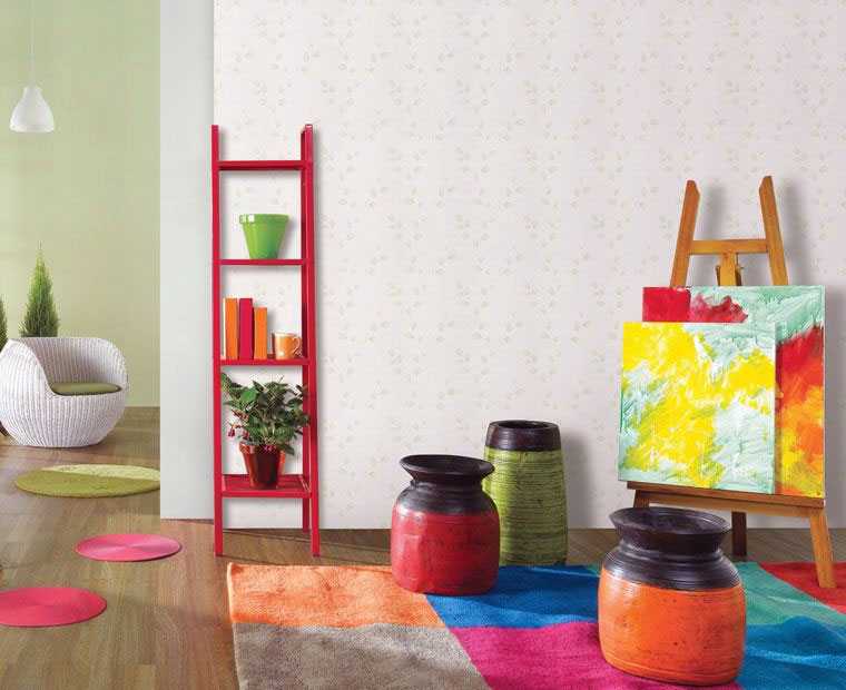 Fresh Colorful Wallpaper for Kids Room Bright Green White Wall ...