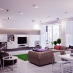 Bright White Open Plan Living Room Ideas