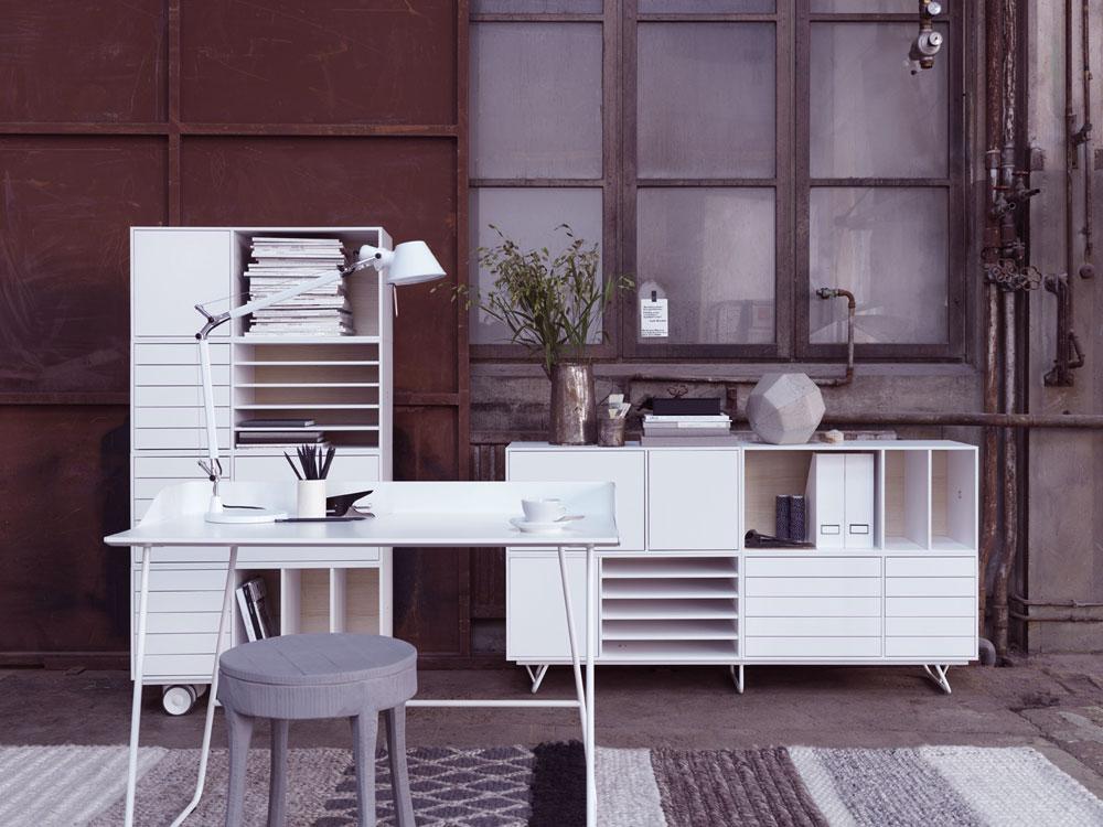 Brown White Home Office Design Ideas