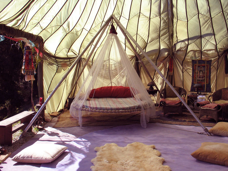 Cool Design Folating Bed with Shaded Mosquito and Net