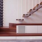 Cool Stair with Balustrade white Steel Rods
