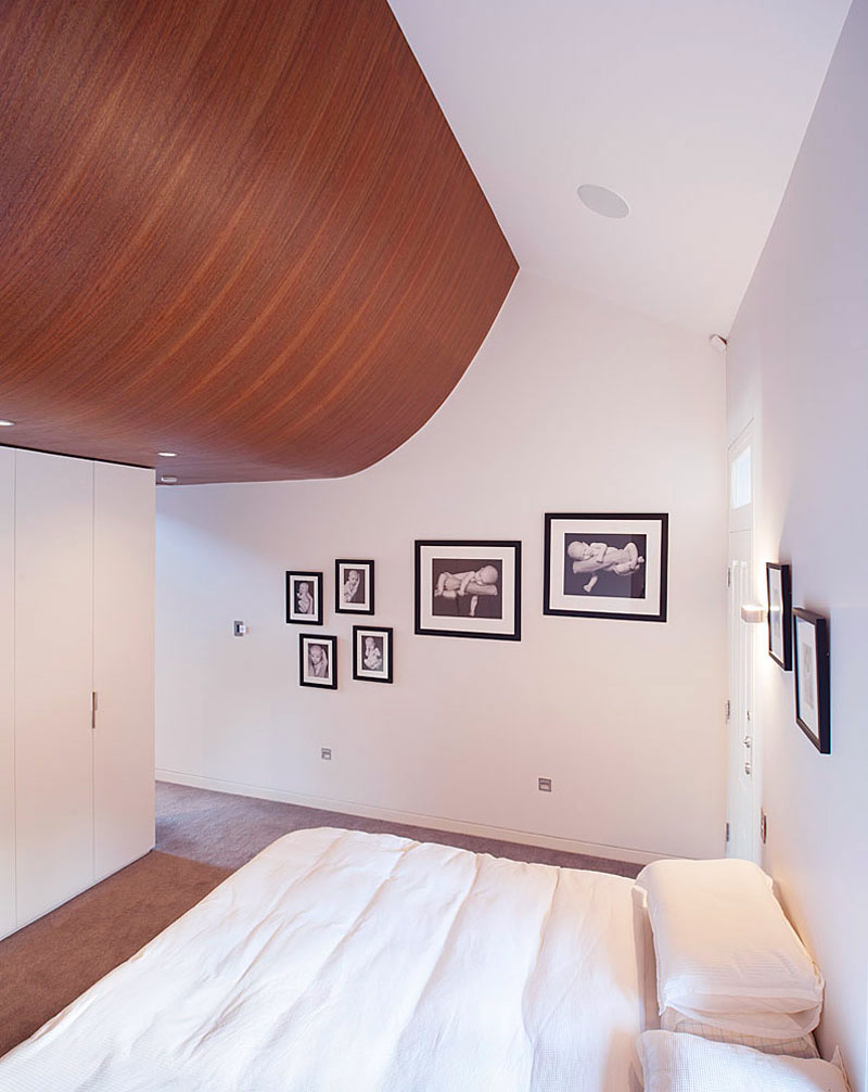 Cozy White Bedroom with Wood Furniture