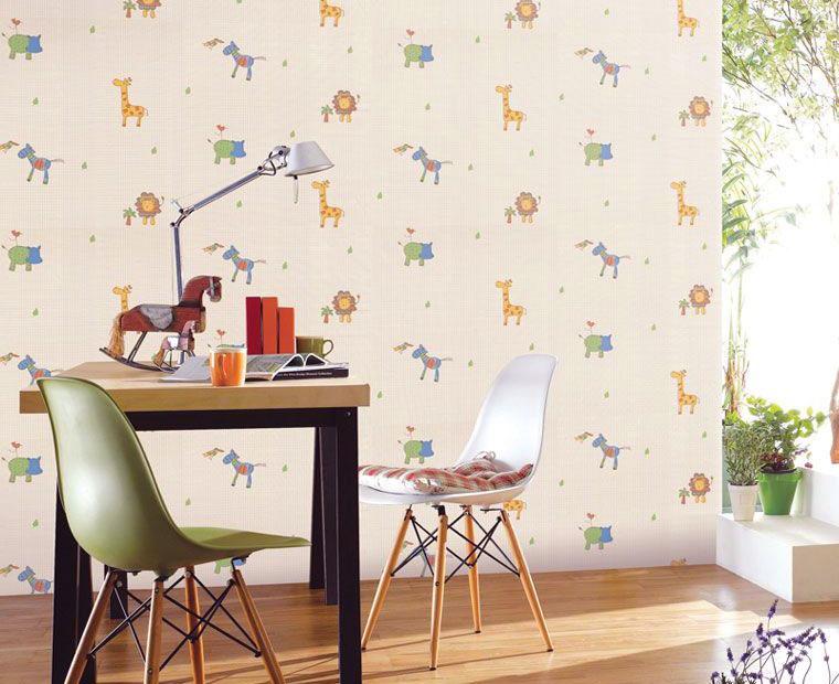 Cute Animal Wallpaper for Kids Study Room