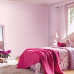 Cute Baby Pink Wallpaper for Girl Room Ideas