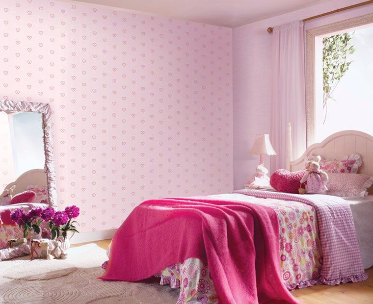 Cute baby girls room simple home decoration for Girls bedroom wallpaper ideas