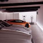 Garage Home Gym Area with Luxury and Sport Cars