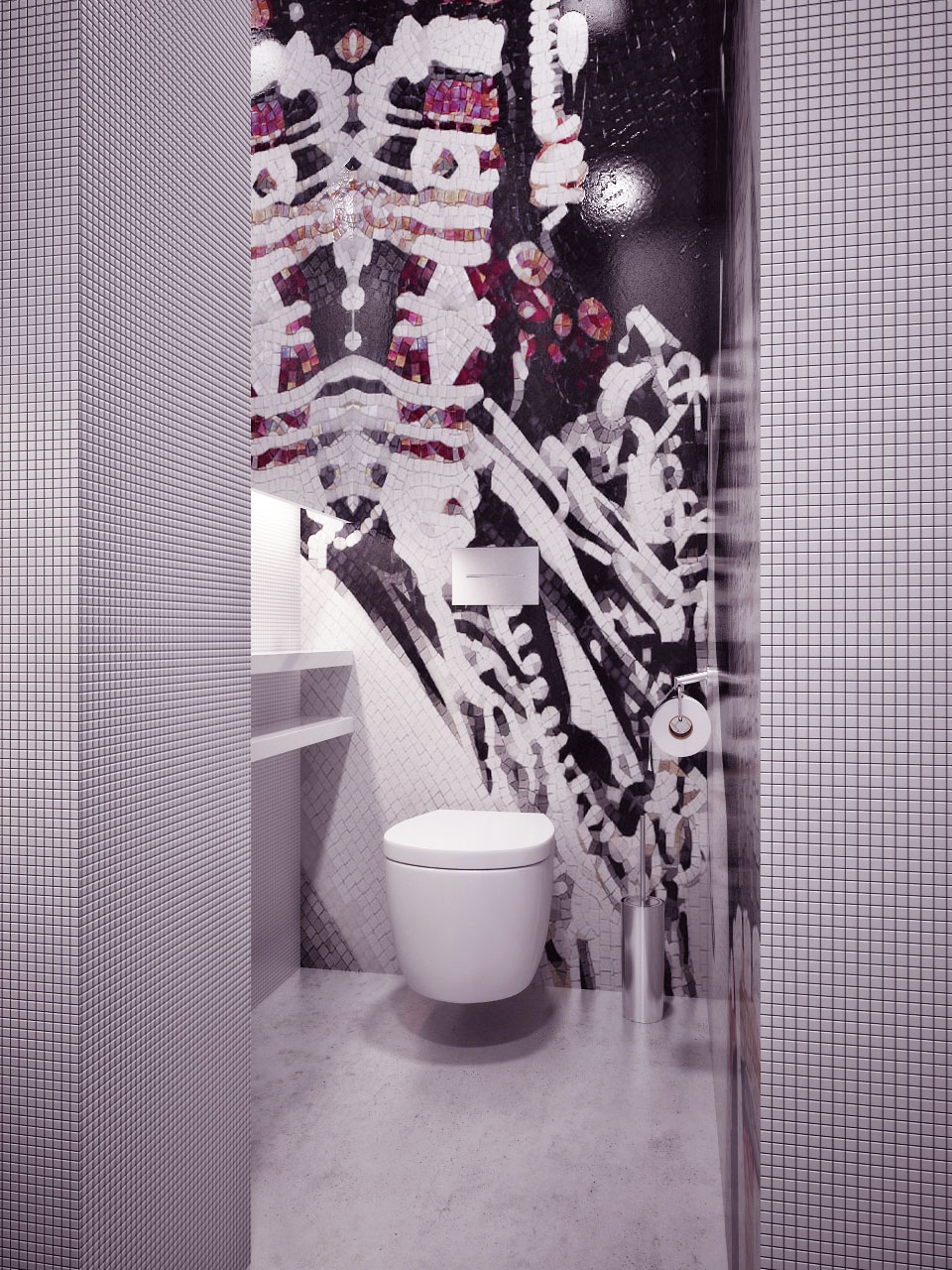 Apartment interior photo geous detail mosaic tile bathroom design