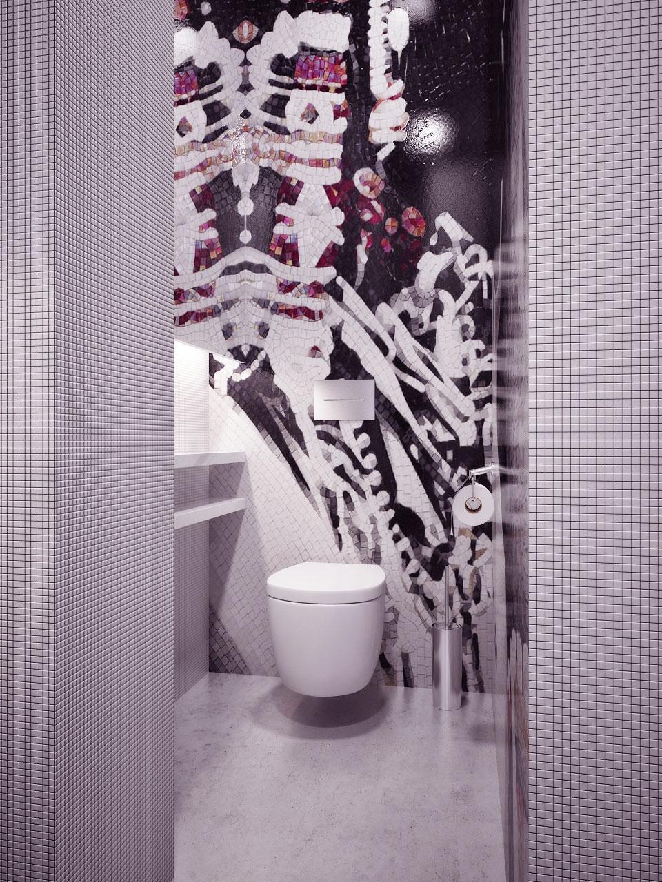Gorgeous Detail Mosaic Tile Bathroom Design