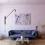 Minimalist Living Room with Cool Wall Painting