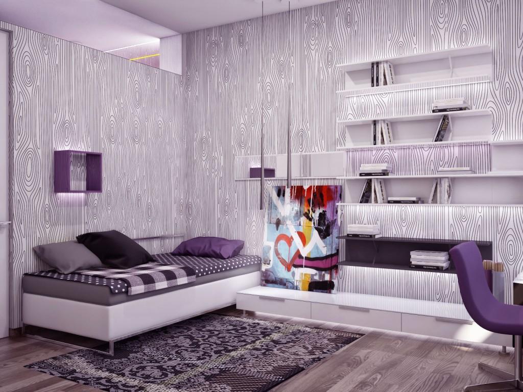 Modern Bedroom with Monochrome Color Scheme Ideas