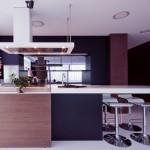 Modern Black Brown White Kitchen Design
