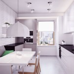 Modern Black White Kitchen Furniture Sets with Dining Table